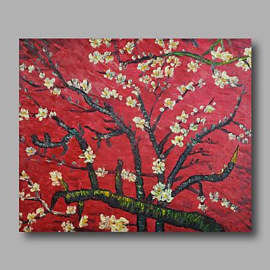 Maalattu Kukkakuvio/Kasvitiede Horizontal, Moderni Kangas Hang-Painted öljymaalaus Kodinsisustus 1 paneeli