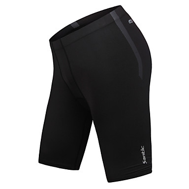 SANTIC Men's Running Shorts Breathable Compression Tights Pants/Trousers/Overtrousers Bottoms for Exercise & Fitness Leisure Sports