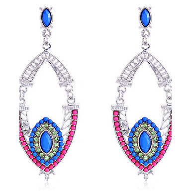 Women's Drop Earrings European Resin Silver Plated Jewelry Party Daily Casual