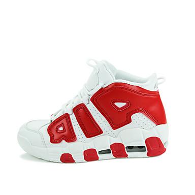 povoljno Ženske cipele-Muškarci Žene Cipele Umjetna koža Proljeće Jesen Košarka Vezanje za Crna Bijela Crvena Plava