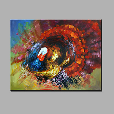Single Modern Abstract Pure Hand Draw Ready To Hang Decorative The Turkey Oil Painting