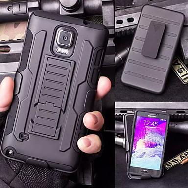Case Kompatibilitás Samsung Galaxy Samsung Galaxy Note Állvánnyal Fekete tok Páncél PC mert Note 5 Note 4 Note 3