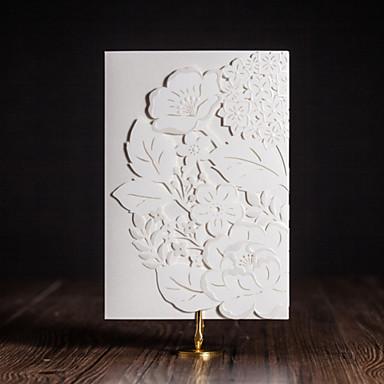 Tri-Fold Esküvői Meghívók Meghívók Művészeti stílus Modern stílus Virágos stílus Művészpapír Virágok