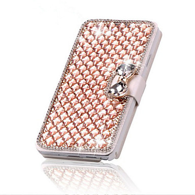 Case For iPhone 5 Apple iPhone X iPhone X iPhone 8 iPhone 5 Case Card Holder Rhinestone with Stand Flip Full Body Cases Geometric Pattern