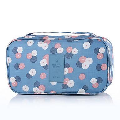 Seyahat Tuvalet Çantası Seyahat Bagaj Organizatörü Taşınabilir Seyahat Depolama için Çamaşırlar SÜTYENLER Naylon / Çiçekli