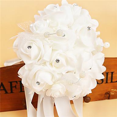 Wedding Flowers Bouquets Wedding Party / Evening Crystal Rhinestone Satin Foam 9.84