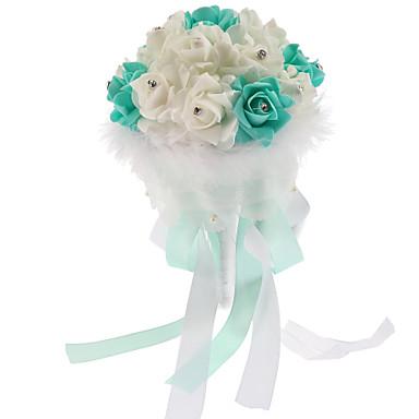 Bouquets de Noiva Redondo Rosas Buquês Casamento Espuma 7.09