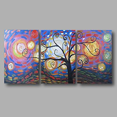 El-Boyalı SoyutModern Üç Panelli Kanvas Hang-Boyalı Yağlıboya Resim For Ev dekorasyonu