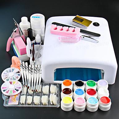 voordelige Nagelgereedschap & Apparatuur-1set Nail Art Kit Nagelsieraden Voor vinger Nagel kunst Manicure pedicure Punk / Kynsien korut