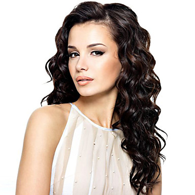 Human Hair Lace Front Wig Wavy 120% Density 100% Hand Tied African American Wig Natural Hairline Ombre Hair Long Women's Human Hair Lace