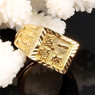 Gyűrűk Esküvő / Parti / Napi / Hétköznapi / Sport Ékszerek Arannyal bevont Férfi Karikagyűrűk 1db,Állítható Aranyozott