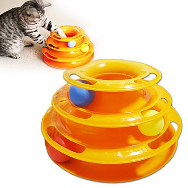 Cicajáték Játékok kisállatoknak Interaktív Labdakergető korong Lemez Műanyag