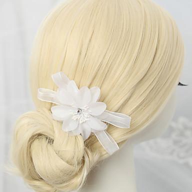 Chiffon Strass Aleación Haarkämme 1 Hochzeit Besondere Anlässe Kopfschmuck
