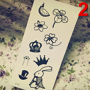 Temporary Tattoos Stickers Non Toxic Glitter Waterproof Multicolored Glitter 1 Package 17*16CM  QR Code