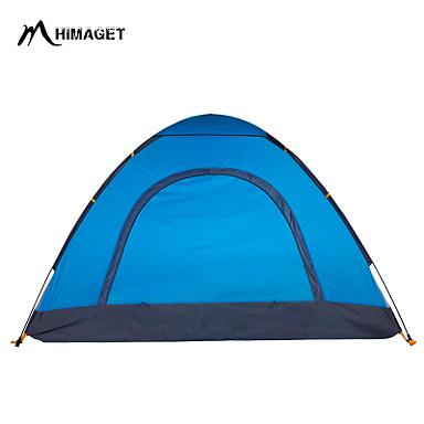 HIMAGET 3-4 személy Sátor Tripla/ Hármas kemping sátor Egy szoba Melegen tartani Párásodás gátló Jól szellőző Gyorsaság Vízálló Gyors