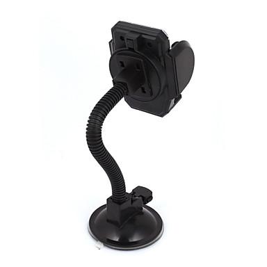 Siyah emme tabanı esnek boyun cam cep telefonu gps için tutucu montaj