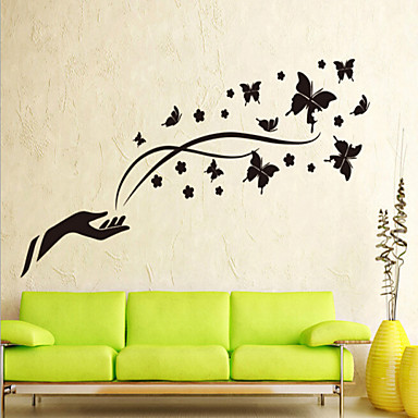 Dekoratif Duvar Çıkartmaları - 3D Duvar Çıkartması Manzara / Yılbaşı / Çiçekler Oturma Odası / Yatakodası / Banyo / Çıkarılabilir