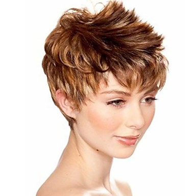 Synthetic Wig Wavy Synthetic Hair Blonde Wig Women's Short Capless