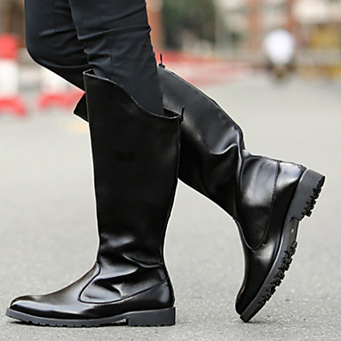 Men's Bootie Synthetic Fall / Winter Comfort / Motorcycle Boots & Boots Black / Party & Boots Evening ecfb62