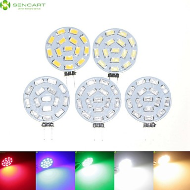 billige Elpærer-SENCART 5pcs 7 W LED-spotpærer 700-900 lm G4 MR11 15 LED perler SMD 5630 Mulighet for demping Varm hvit Naturlig hvit Rød 12 V 24 V 9-30 V / 5 stk. / RoHs