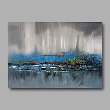 Pintura a Óleo Pintados à mão - Abstrato Modern Tela de pintura
