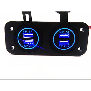 Dual USB autós töltő. új,. vízálló funkcióval