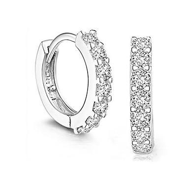 Mulheres Prata de Lei Brincos Curtos - Brincos Para Casamento Festa Diário
