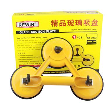 rewin® verktøy høy kvalitet aluminiumslegering tre -claw glass sugeplaten 150kg