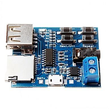 tf kortet u disk mp3-format dekoder bord modul forsterker dekoding lydspiller