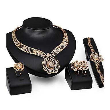 billige Smykke Sett-Perle store halskæder Smykke Sett / Uttalelse Halskjeder - 18K Gullbelagt Statement, damer, Vintage, Fest Søtt Halskjeder Smykker Til