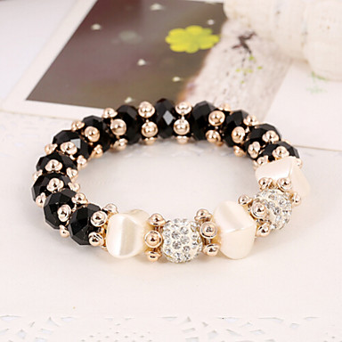 Women's - Persona Beads Collection Black Silver Red Blue Rainbow Bracelet For Wedding Party Special Occasion Anniversary Birthday