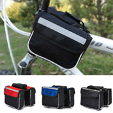Fahrradtasche 2LFahrradrahmentasche Wasserdicht / Regendicht / tragbar / Kompakt Tasche für das Rad Nylon / Leinwand / Terylen