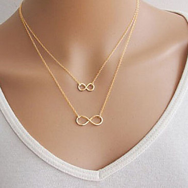 Women's Infinity Pendant Necklace - Basic Double-layer Infinity Necklace For Party Daily Casual