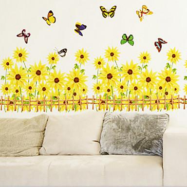 Natal Floral Feriado Paisagem Adesivos de Parede Autocolantes 3D para Parede Autocolantes de Parede Decorativos Autocolantes de