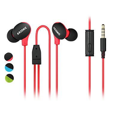 No ouvido Com Fio Fones Plástico Esporte e Fitness Fone de ouvido Com Microfone Com controle de volume Fone de ouvido