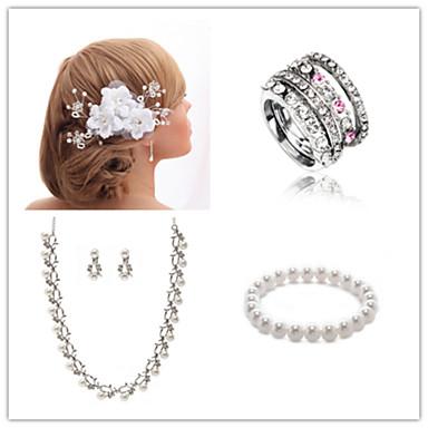 Conjunto de jóias Mulheres Aniversário / Casamento / Noivado / Presente / Festa / Ocasião Especial Conjuntos de JoalhariaZircônia Cubica