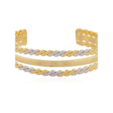 Bracelet Bracelets Rigides Alliage / Plaqué or Mariage / Soirée / Quotidien / Décontracté Bijoux Cadeau Doré,1pc