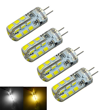 g4 vezetett kétpólusú fények t 24 smd 2835 126 ~ 150lm meleg fehér hideg fehér 3000 ~ 3200k / 6000 ~ 6500k dekoratív dc 12v