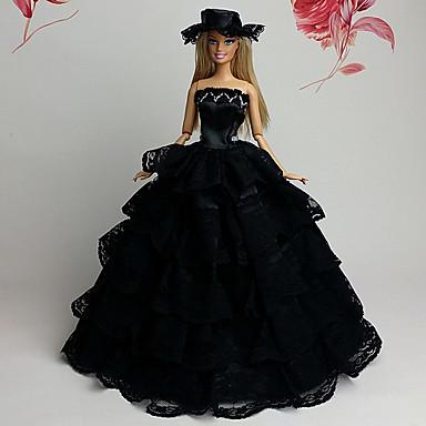 Film/TV témájú kosztümök Ruhák mert Barbie baba Csipke Organza Ruha mert Lány Doll Toy