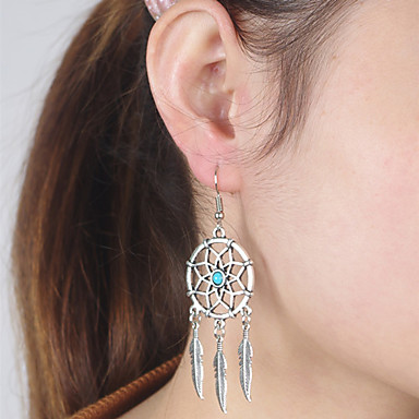 Women's Turquoise Drop Earrings / Dangle Earrings - Turquoise Wings Bohemian, European, Simple Style Silver For Daily / Casual