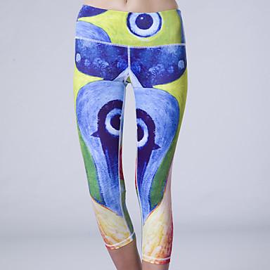 Queen Yoga Kadın's Legginsy do biegania Bielizna termoaktywna Spor Taytları Nefes Alabilir Sıkıştırma Pochłanianie potu 3/4 Tayt
