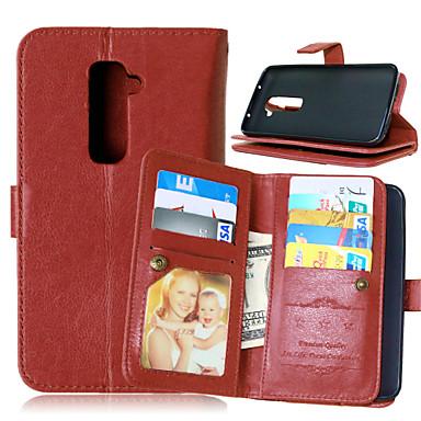 Case Kompatibilitás LG LG tok Kártyatartó Pénztárca Állvánnyal Flip Tömör szín Kemény mert