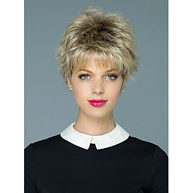 Synthetic Wig Wavy Synthetic Hair Wig Women's Short Capless