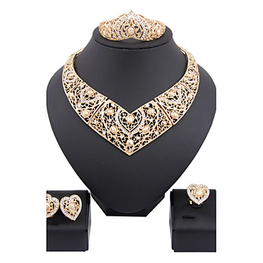 Women's Jewelry Set Fashion Wedding Party Alloy Cross Rings Earrings Necklaces Bracelets & Bangles