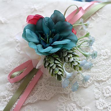 Düğün Çiçekleri Buketler Bilek Çiçekleri Diğerleri Düğün Parti / Gece Malzeme Polyester Saten 0-20cm