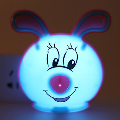 energiatakarékos LED aranyos nyúl fény működtetett állapotban éjszakai fény lámpa