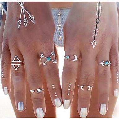 Gyűrűk Hétköznapi Ékszerek Ötvözet Női Midi gyűrűk 1set,7 Ezüst
