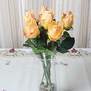 1 Ág Poliészter Rózsák Asztali virág Művirágok