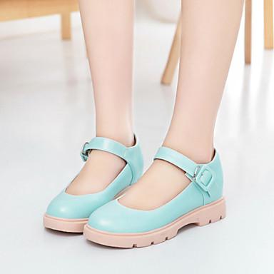Mulheres Sapatos Courino Primavera Verão Sem Salto Presilha para Casual Escritório e Carreira Social Branco Bege Azul Rosa claro