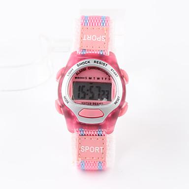 Kids' Sport Watch Fashion Watch Digital Watch Digital Water Resistant / Water Proof Fabric Band Pink